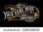 vintage  logo with floral... | Shutterstock .eps vector #1284148453