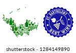 vector collage of wine map of... | Shutterstock .eps vector #1284149890
