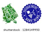 vector collage of wine map of... | Shutterstock .eps vector #1284149950