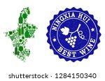 vector collage of wine map of... | Shutterstock .eps vector #1284150340