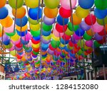 helium balloons in the air | Shutterstock . vector #1284152080