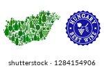 vector collage of wine map of... | Shutterstock .eps vector #1284154906