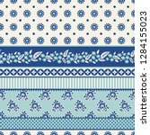 seamless pattern with patchwork ...   Shutterstock .eps vector #1284155023