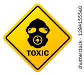 toxic hazard vector sign... | Shutterstock .eps vector #1284155560
