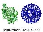 vector collage of wine map of... | Shutterstock .eps vector #1284158770