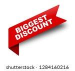 red vector banner ribbon... | Shutterstock .eps vector #1284160216