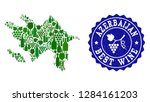 vector collage of wine map of... | Shutterstock .eps vector #1284161203
