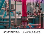 biotechnology laboratory with... | Shutterstock . vector #1284165196
