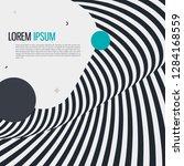 memphis style geometric pattern ...   Shutterstock .eps vector #1284168559
