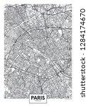 city map paris  travel vector... | Shutterstock .eps vector #1284174670