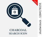 charcoal search icon. editable... | Shutterstock .eps vector #1284178153