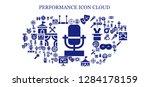 performance icon set. 93... | Shutterstock .eps vector #1284178159