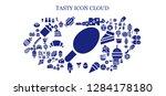 tasty icon set. 93 filled... | Shutterstock .eps vector #1284178180