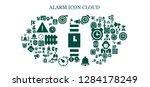 alarm icon set. 93 filled...   Shutterstock .eps vector #1284178249