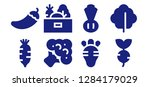 cucumber icon set. 8 filled... | Shutterstock .eps vector #1284179029