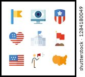9 government icon. vector...   Shutterstock .eps vector #1284180049