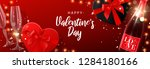 happy valentine's day banner.... | Shutterstock .eps vector #1284180166