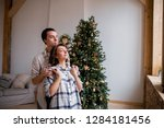 happy husband and wife in the... | Shutterstock . vector #1284181456