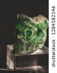 mineral green crystal skull | Shutterstock . vector #1284182146