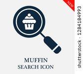 muffin search icon. editable...   Shutterstock .eps vector #1284184993