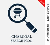 charcoal search icon. editable... | Shutterstock .eps vector #1284184996