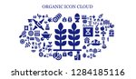 organic icon set. 93 filled... | Shutterstock .eps vector #1284185116