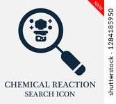 chemical reaction search icon.... | Shutterstock .eps vector #1284185950