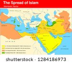 period of spread of islam map...   Shutterstock .eps vector #1284186973