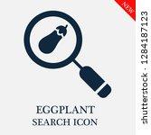 eggplant search icon. editable... | Shutterstock .eps vector #1284187123