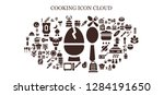 cooking icon set. 93 filled... | Shutterstock .eps vector #1284191650