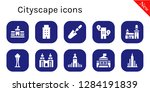 cityscape icon set. 10 filled... | Shutterstock .eps vector #1284191839