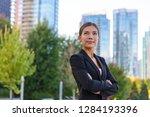 asian businesswoman. happy... | Shutterstock . vector #1284193396