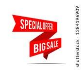 big sale banner. red discount...   Shutterstock .eps vector #1284196909