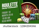illustration online poker... | Shutterstock .eps vector #1284204346