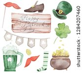 watercolor elements for saint... | Shutterstock . vector #1284207460