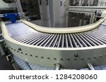 metal conveyor belt... | Shutterstock . vector #1284208060