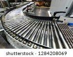 metal conveyor belt... | Shutterstock . vector #1284208069