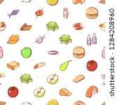 various images set. background... | Shutterstock .eps vector #1284208960