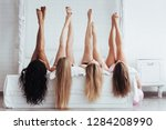 different skin colors. four... | Shutterstock . vector #1284208990