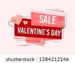 Stock vector happy valentines day valentines day sale offer happy valentines day card vector illustration 1284212146
