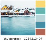 Winter landscape color palette. ...