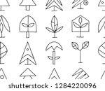set of vector graphic hand... | Shutterstock .eps vector #1284220096