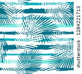 tropical pattern  palm leaves... | Shutterstock .eps vector #1284221713