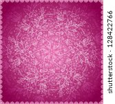 round lacy mauve background for ... | Shutterstock .eps vector #128422766