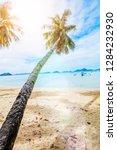 vacation tropical sandy beach...   Shutterstock . vector #1284232930