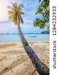 vacation tropical sandy beach...   Shutterstock . vector #1284232933