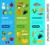 cartoon healthy food signs... | Shutterstock .eps vector #1284238930
