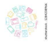 kitchen appliances signs thin... | Shutterstock .eps vector #1284238966