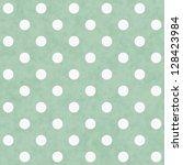 green and white polka dot... | Shutterstock . vector #128423984