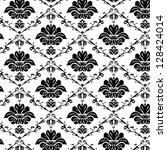 damask seamless pattern | Shutterstock .eps vector #128424014